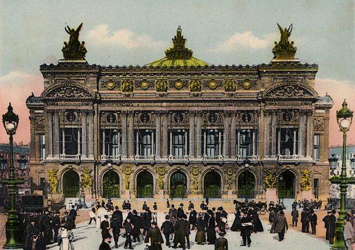 L'Opera, Opera House. Illustration for Souvenir de Paris, Photographies en Couleurs (LIP, c 1914).