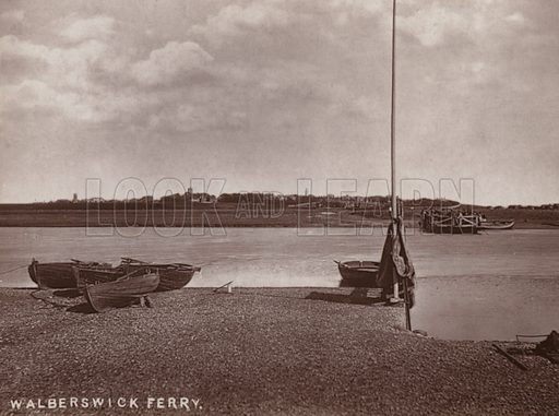 Walberswick Ferry. Illustration for 12 Picturesque Permanent Photographs of Southwold (J Chapman, Southwold, c 1890).