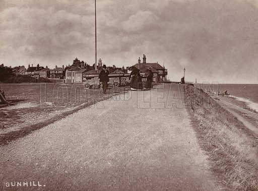 Gunhill. Illustration for 12 Picturesque Permanent Photographs of Southwold (J Chapman, Southwold, c 1890).