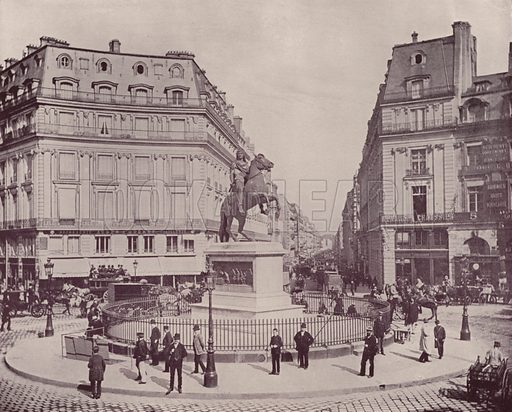 """The Place of Victory. Illustration for Beautiful Paris with over 400 views taken by Mr A Pepper, Official Photographer of the French Government, with introduction by J W Buel (Arkell Weekly, 1894).  No further info found on """"Mr A Pepper""""."""