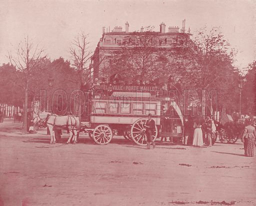 "A Paris Omnibus. Illustration for Beautiful Paris with over 400 views taken by Mr A Pepper, Official Photographer of the French Government, with introduction by J W Buel (Arkell Weekly, 1894).  No further info found on ""Mr A Pepper""."