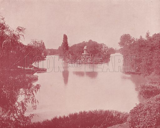 "Lake Inferior, in the Bois de Boulogne. Illustration for Beautiful Paris with over 400 views taken by Mr A Pepper, Official Photographer of the French Government, with introduction by J W Buel (Arkell Weekly, 1894).  No further info found on ""Mr A Pepper""."