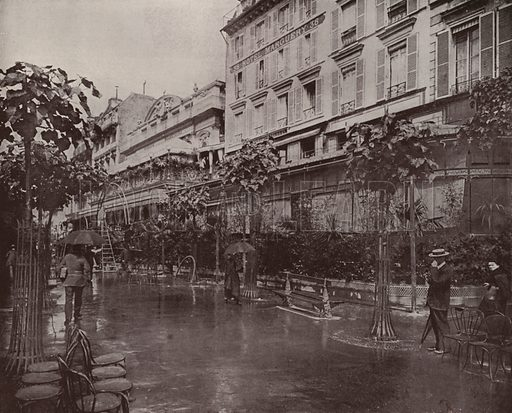 """Cafe Marguery. Illustration for Beautiful Paris with over 400 views taken by Mr A Pepper, Official Photographer of the French Government, with introduction by J W Buel (Arkell Weekly, 1894).  No further info found on """"Mr A Pepper""""."""