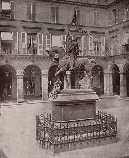 """Statue of Joan of Arc. Illustration for Beautiful Paris with over 400 views taken by Mr A Pepper, Official Photographer of the French Government, with introduction by J W Buel (Arkell Weekly, 1894).  No further info found on """"Mr A Pepper""""."""