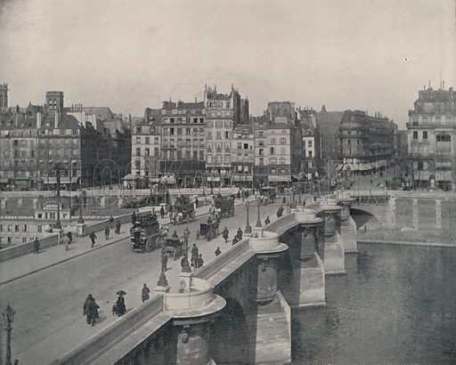 """The Pont Neuf, or New Bridge. Illustration for Beautiful Paris with over 400 views taken by Mr A Pepper, Official Photographer of the French Government, with introduction by J W Buel (Arkell Weekly, 1894).  No further info found on """"Mr A Pepper""""."""