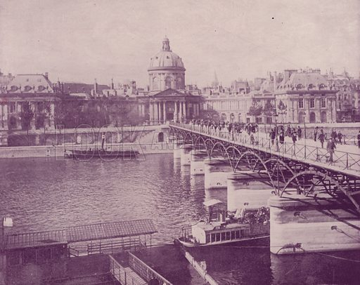 """Institute of France. Illustration for Beautiful Paris with over 400 views taken by Mr A Pepper, Official Photographer of the French Government, with introduction by J W Buel (Arkell Weekly, 1894).  No further info found on """"Mr A Pepper""""."""