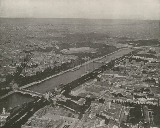 "Panorama of Paris, Northeast, from Eiffel Tower. Illustration for Beautiful Paris with over 400 views taken by Mr A Pepper, Official Photographer of the French Government, with introduction by J W Buel (Arkell Weekly, 1894).  No further info found on ""Mr A Pepper""."