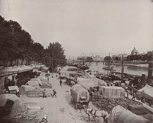 """Levee Scene in Paris. Illustration for Beautiful Paris with over 400 views taken by Mr A Pepper, Official Photographer of the French Government, with introduction by J W Buel (Arkell Weekly, 1894).  No further info found on """"Mr A Pepper""""."""