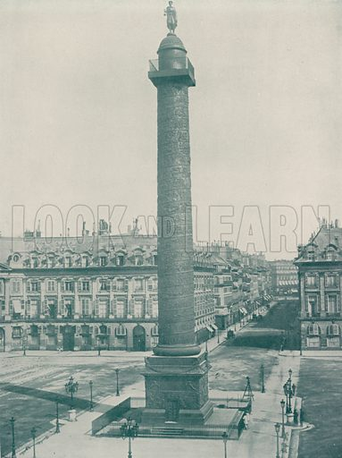 "Column Vendome. Illustration for Beautiful Paris with over 400 views taken by Mr A Pepper, Official Photographer of the French Government, with introduction by J W Buel (Arkell Weekly, 1894).  No further info found on ""Mr A Pepper""."
