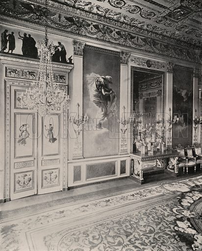 """German Embassy, Hall of the Four Seasons, Winter. Illustration for Beautiful Paris with over 400 views taken by Mr A Pepper, Official Photographer of the French Government, with introduction by J W Buel (Arkell Weekly, 1894).  No further info found on """"Mr A Pepper""""."""