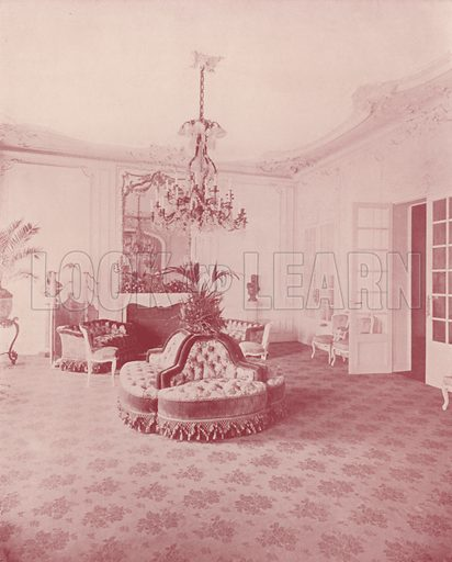 """American Ambassador's Residence, the Parlor. Illustration for Beautiful Paris with over 400 views taken by Mr A Pepper, Official Photographer of the French Government, with introduction by J W Buel (Arkell Weekly, 1894).  No further info found on """"Mr A Pepper""""."""