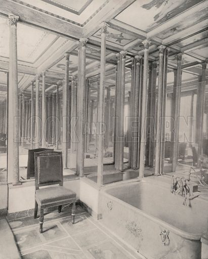 """Bath-Room, German Embassy Building. Illustration for Beautiful Paris with over 400 views taken by Mr A Pepper, Official Photographer of the French Government, with introduction by J W Buel (Arkell Weekly, 1894).  No further info found on """"Mr A Pepper""""."""