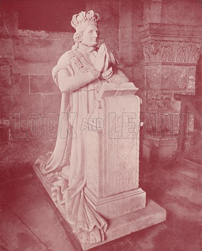"Tomb and Effigy of Louis XVI, Cathedral of St Denis. Illustration for Beautiful Paris with over 400 views taken by Mr A Pepper, Official Photographer of the French Government, with introduction by J W Buel (Arkell Weekly, 1894).  No further info found on ""Mr A Pepper""."