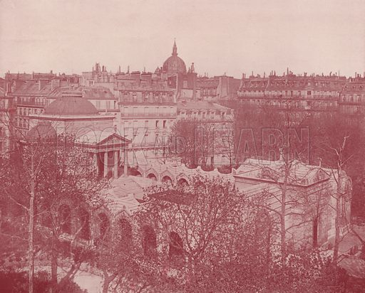 """Chapelle Expiatoire. Illustration for Beautiful Paris with over 400 views taken by Mr A Pepper, Official Photographer of the French Government, with introduction by J W Buel (Arkell Weekly, 1894).  No further info found on """"Mr A Pepper""""."""
