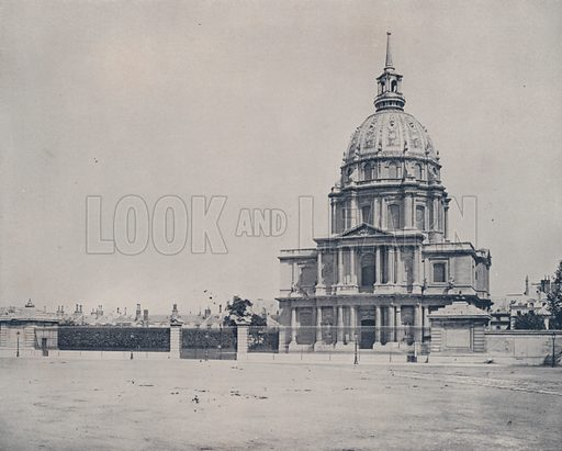 "The Hotel des Invalides. Illustration for Beautiful Paris with over 400 views taken by Mr A Pepper, Official Photographer of the French Government, with introduction by J W Buel (Arkell Weekly, 1894).  No further info found on ""Mr A Pepper""."