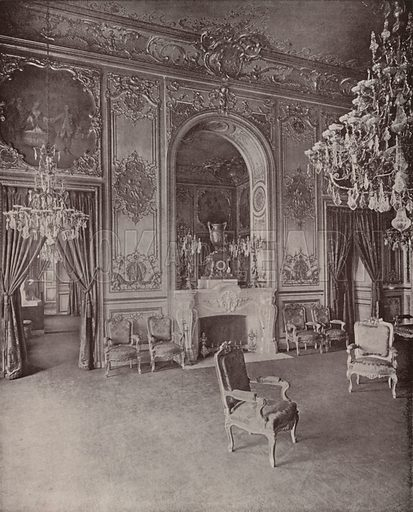 """Parlor of the President of the Chamber of Deputies. Illustration for Beautiful Paris with over 400 views taken by Mr A Pepper, Official Photographer of the French Government, with introduction by J W Buel (Arkell Weekly, 1894).  No further info found on """"Mr A Pepper""""."""