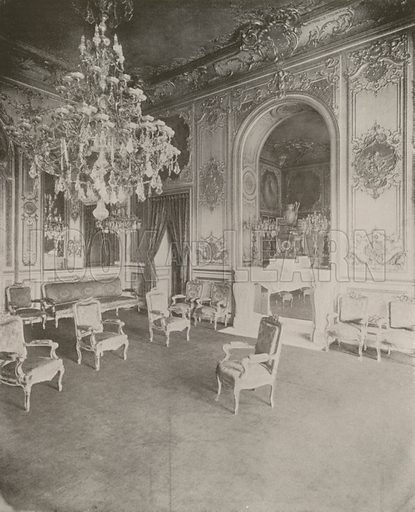 """Palais Bourbon, President's Parlor. Illustration for Beautiful Paris with over 400 views taken by Mr A Pepper, Official Photographer of the French Government, with introduction by J W Buel (Arkell Weekly, 1894).  No further info found on """"Mr A Pepper""""."""
