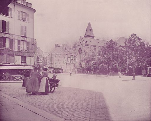 """Saint Medard's Church. Illustration for Beautiful Paris with over 400 views taken by Mr A Pepper, Official Photographer of the French Government, with introduction by J W Buel (Arkell Weekly, 1894).  No further info found on """"Mr A Pepper""""."""
