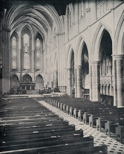 """American Church of the Holy Trinity. Illustration for Beautiful Paris with over 400 views taken by Mr A Pepper, Official Photographer of the French Government, with introduction by J W Buel (Arkell Weekly, 1894).  No further info found on """"Mr A Pepper""""."""