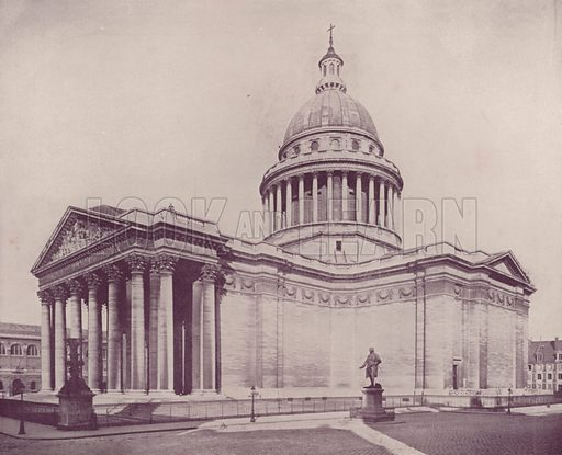 """The Pantheon. Illustration for Beautiful Paris with over 400 views taken by Mr A Pepper, Official Photographer of the French Government, with introduction by J W Buel (Arkell Weekly, 1894).  No further info found on """"Mr A Pepper""""."""