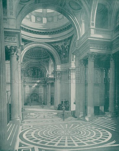 "Interior of the Pantheon. Illustration for Beautiful Paris with over 400 views taken by Mr A Pepper, Official Photographer of the French Government, with introduction by J W Buel (Arkell Weekly, 1894).  No further info found on ""Mr A Pepper""."
