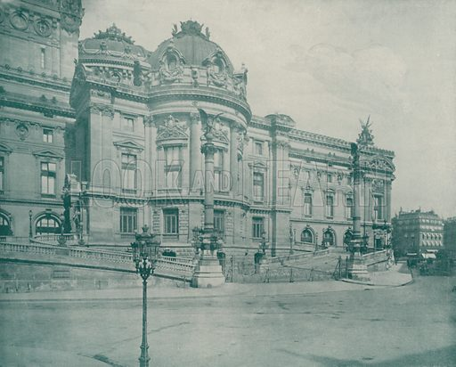 """South Side of the Opera House. Illustration for Beautiful Paris with over 400 views taken by Mr A Pepper, Official Photographer of the French Government, with introduction by J W Buel (Arkell Weekly, 1894).  No further info found on """"Mr A Pepper""""."""