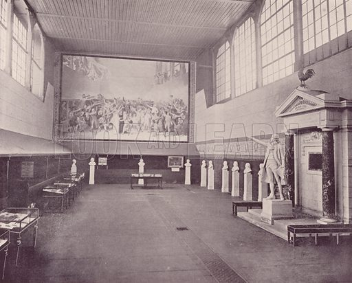 """The Hall of the Tennis Court, Versailles. Illustration for Beautiful Paris with over 400 views taken by Mr A Pepper, Official Photographer of the French Government, with introduction by J W Buel (Arkell Weekly, 1894).  No further info found on """"Mr A Pepper""""."""