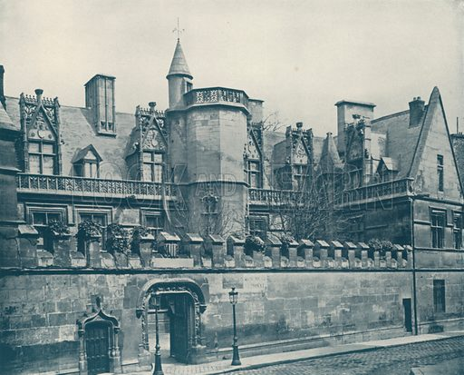 """The Musee Cluny. Illustration for Beautiful Paris with over 400 views taken by Mr A Pepper, Official Photographer of the French Government, with introduction by J W Buel (Arkell Weekly, 1894).  No further info found on """"Mr A Pepper""""."""