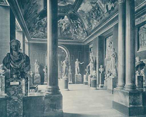 """Room of the Seasons, Louvre Museum. Illustration for Beautiful Paris with over 400 views taken by Mr A Pepper, Official Photographer of the French Government, with introduction by J W Buel (Arkell Weekly, 1894).  No further info found on """"Mr A Pepper""""."""