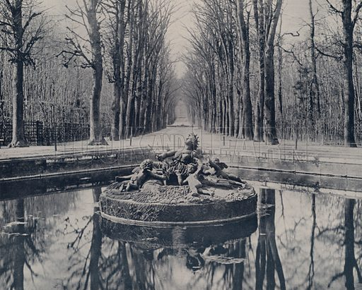 """Basin of Ceres, Versailles Park. Illustration for Beautiful Paris with over 400 views taken by Mr A Pepper, Official Photographer of the French Government, with introduction by J W Buel (Arkell Weekly, 1894).  No further info found on """"Mr A Pepper""""."""