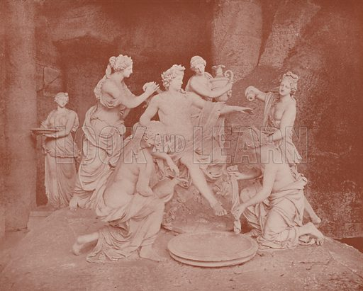 """Baths of Apollo, Versailles Park. Illustration for Beautiful Paris with over 400 views taken by Mr A Pepper, Official Photographer of the French Government, with introduction by J W Buel (Arkell Weekly, 1894).  No further info found on """"Mr A Pepper""""."""