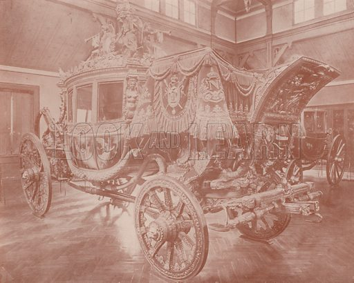 """State Carriage of the Prince Imperial, Versailles. Illustration for Beautiful Paris with over 400 views taken by Mr A Pepper, Official Photographer of the French Government, with introduction by J W Buel (Arkell Weekly, 1894).  No further info found on """"Mr A Pepper""""."""