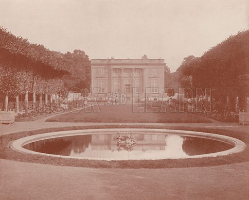 "Little Trianon, Versailles. Illustration for Beautiful Paris with over 400 views taken by Mr A Pepper, Official Photographer of the French Government, with introduction by J W Buel (Arkell Weekly, 1894).  No further info found on ""Mr A Pepper""."