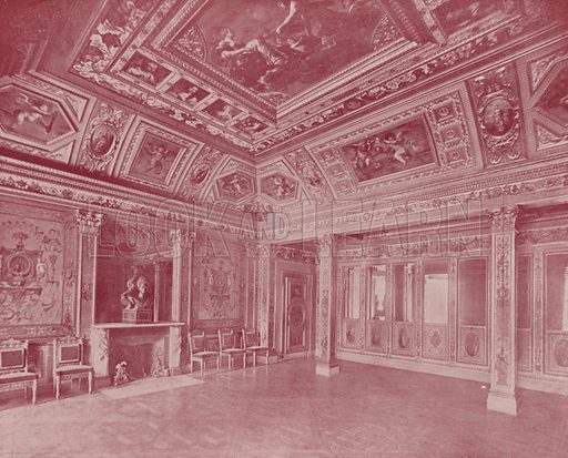 """Chamber of Marie de Medicis. Illustration for Beautiful Paris with over 400 views taken by Mr A Pepper, Official Photographer of the French Government, with introduction by J W Buel (Arkell Weekly, 1894).  No further info found on """"Mr A Pepper""""."""