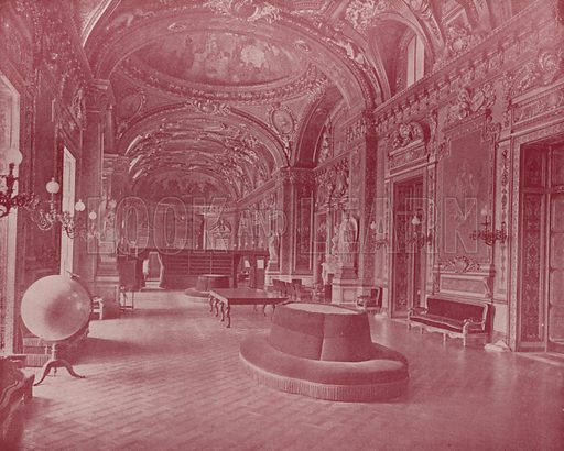 "The Throne Room, Palace of the Luxembourg. Illustration for Beautiful Paris with over 400 views taken by Mr A Pepper, Official Photographer of the French Government, with introduction by J W Buel (Arkell Weekly, 1894).  No further info found on ""Mr A Pepper""."