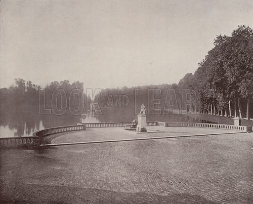 "Canal in the Park of Fontainebleau. Illustration for Beautiful Paris with over 400 views taken by Mr A Pepper, Official Photographer of the French Government, with introduction by J W Buel (Arkell Weekly, 1894).  No further info found on ""Mr A Pepper""."