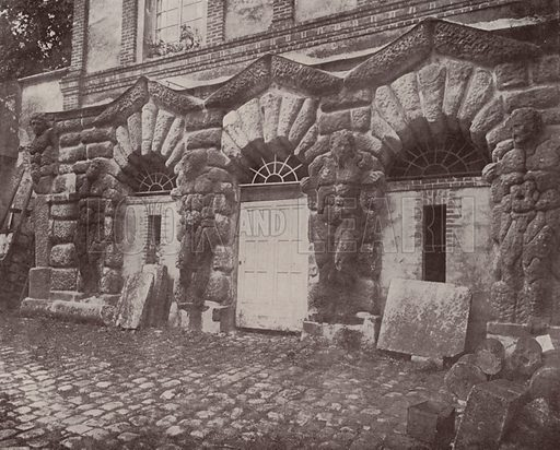 """The Pines Grotto, Forest of Fontainebleau. Illustration for Beautiful Paris with over 400 views taken by Mr A Pepper, Official Photographer of the French Government, with introduction by J W Buel (Arkell Weekly, 1894).  No further info found on """"Mr A Pepper""""."""