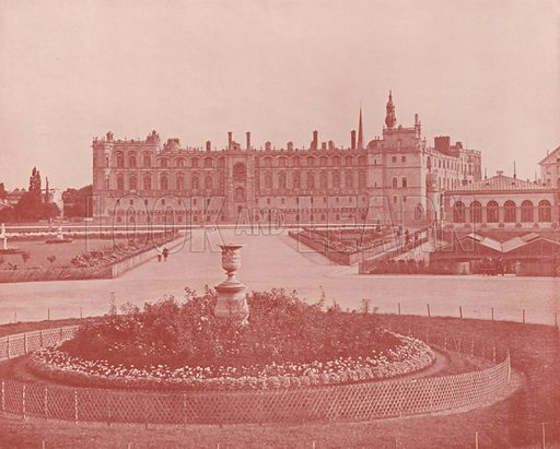 """Castle of St Germain, North Front. Illustration for Beautiful Paris with over 400 views taken by Mr A Pepper, Official Photographer of the French Government, with introduction by J W Buel (Arkell Weekly, 1894).  No further info found on """"Mr A Pepper""""."""