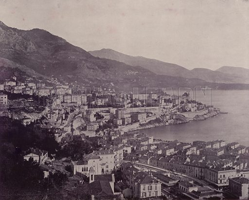 """General View of Monte Carlo. Illustration for Beautiful Paris with over 400 views taken by Mr A Pepper, Official Photographer of the French Government, with introduction by J W Buel (Arkell Weekly, 1894).  No further info found on """"Mr A Pepper""""."""