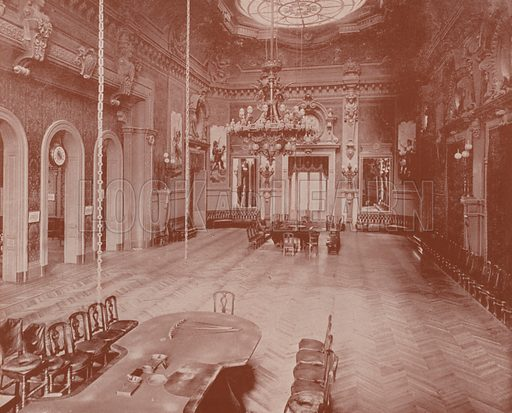 """Salon for Rouge et Noir. Illustration for Beautiful Paris with over 400 views taken by Mr A Pepper, Official Photographer of the French Government, with introduction by J W Buel (Arkell Weekly, 1894).  No further info found on """"Mr A Pepper""""."""
