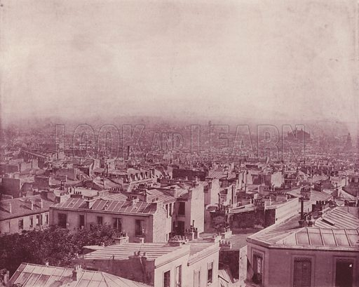 """View of Paris from the Butte Montmartre. Illustration for Beautiful Paris with over 400 views taken by Mr A Pepper, Official Photographer of the French Government, with introduction by J W Buel (Arkell Weekly, 1894).  No further info found on """"Mr A Pepper""""."""