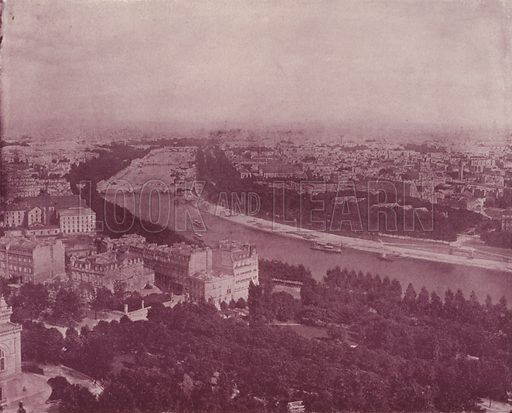 "Panorama of Paris, looking East, from the Trocadero. Illustration for Beautiful Paris with over 400 views taken by Mr A Pepper, Official Photographer of the French Government, with introduction by J W Buel (Arkell Weekly, 1894).  No further info found on ""Mr A Pepper""."