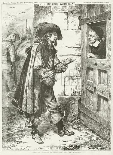 Parley the Porter and Mr Flatterwell. Illustration for The British Workman, 1 February 1865.