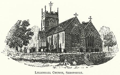 Lilleshall Church, Shropshire. Illustration for The British Workman, 1 June 1865.