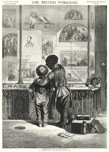 Shaftesbury; or, Lost and Found. Illustration for The British Workman, 1 May 1866.