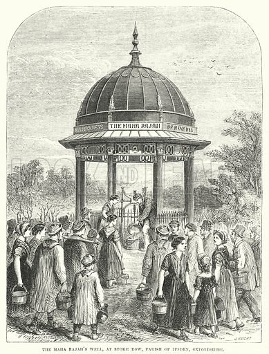 The Maha Rajah's Well, at Stoke Row, Parish of Ipsden, Oxfordshire. Illustration for The British Workman, 1 June 1866.