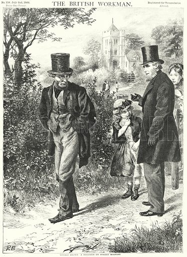 Thomas Brown, a Dialogue on Sunday Morning. Illustration for The British Workman, 2 July 1866.