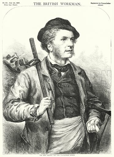 The Best Reform, and the Carpenter's Speech. Illustration for The British Workman, 1 July 1867.