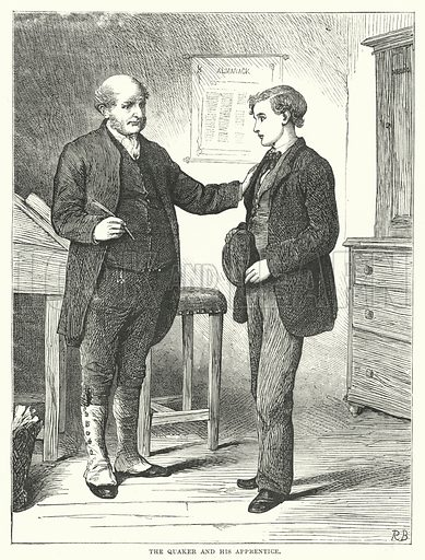 The Quaker and his Apprentice. Illustration for The British Workman, 1 August 1867.