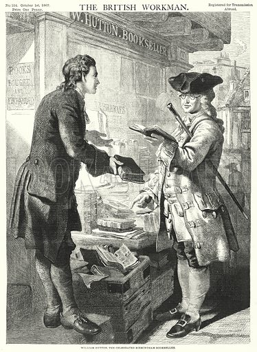 William Hutton, the Celebrated Birmingham Bookseller. Illustration for The British Workman, 1 October 1867.